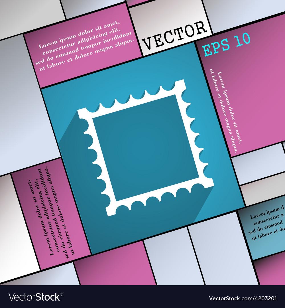 Photo frame template icon symbol flat modern web vector | Price: 1 Credit (USD $1)