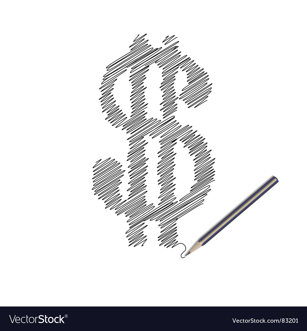 Scribble of money vector | Price: 1 Credit (USD $1)