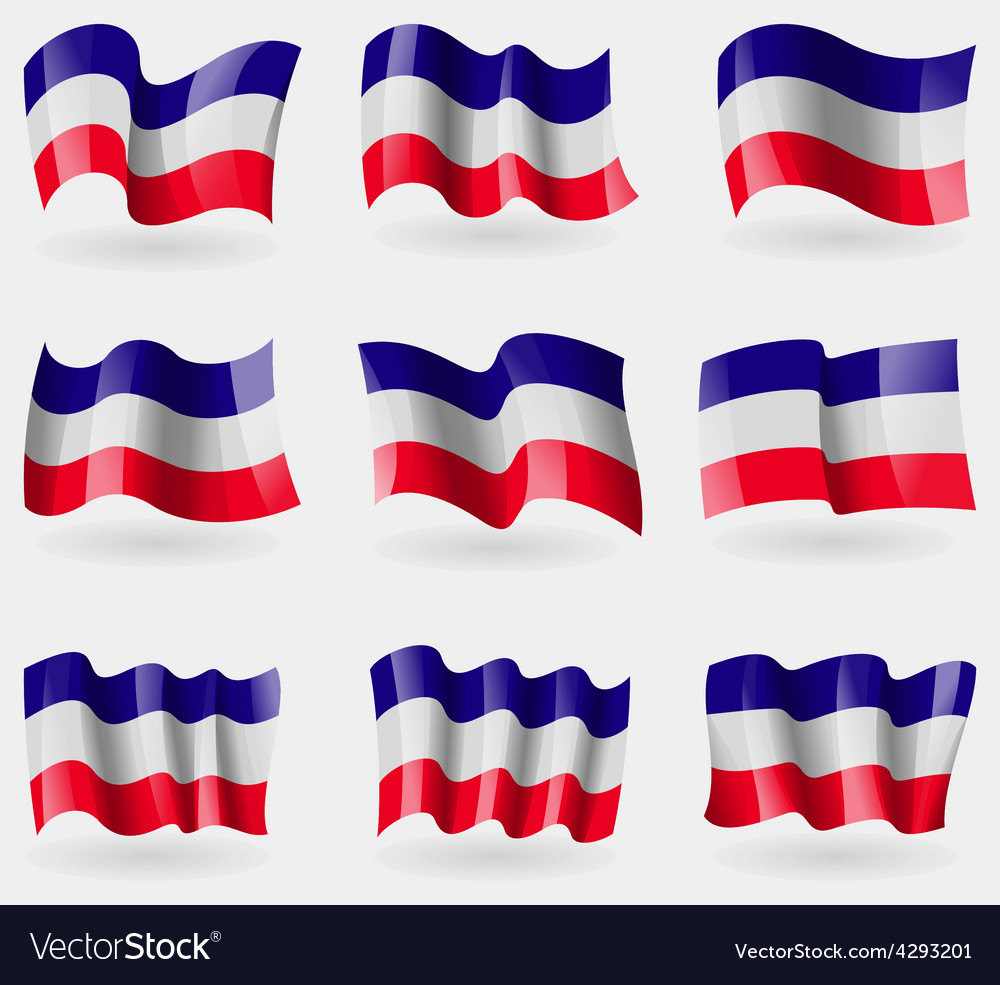 Set of los altos flags in the air vector | Price: 3 Credit (USD $3)