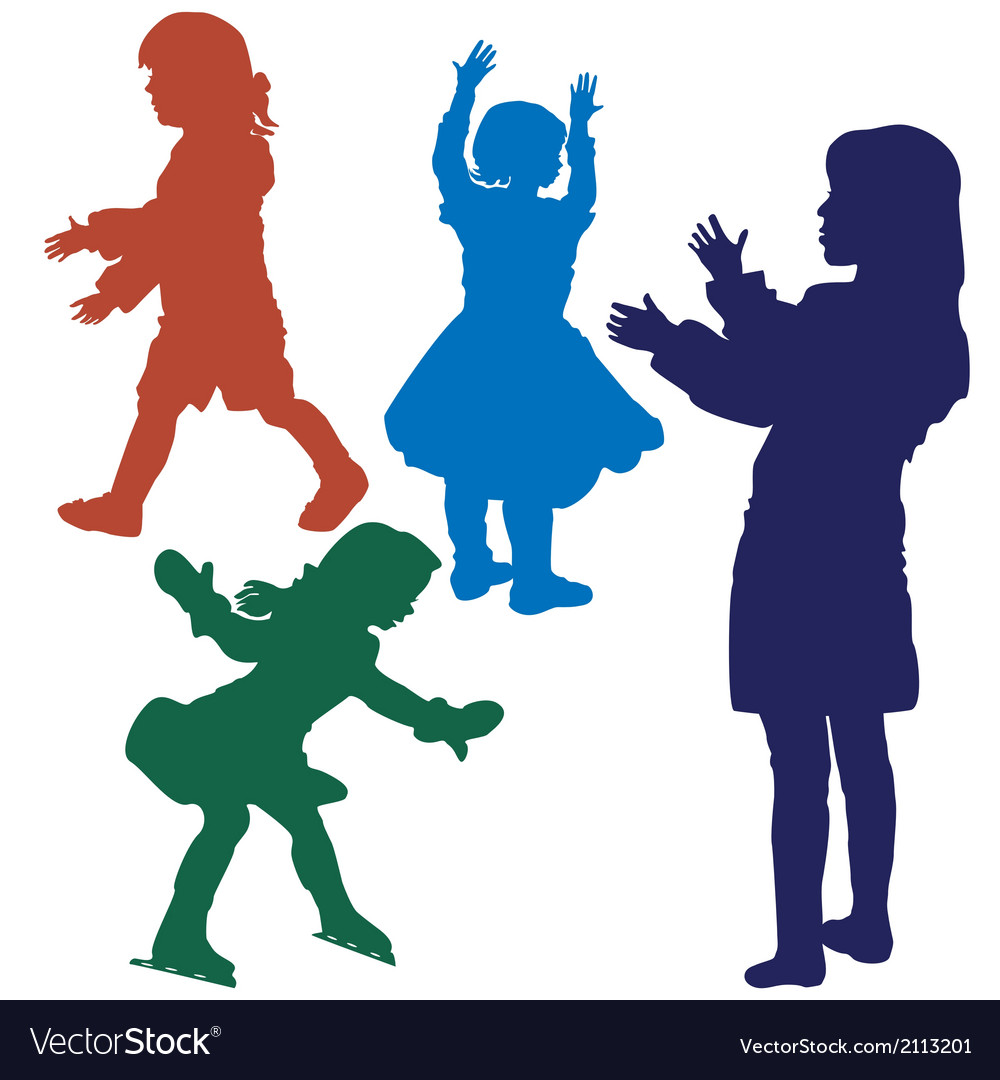 Silhouette of girls vector | Price: 1 Credit (USD $1)