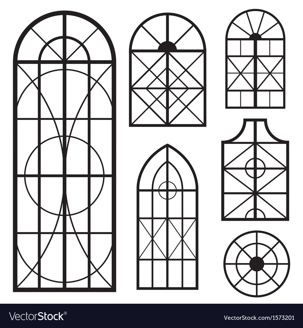 Window set vector | Price: 1 Credit (USD $1)