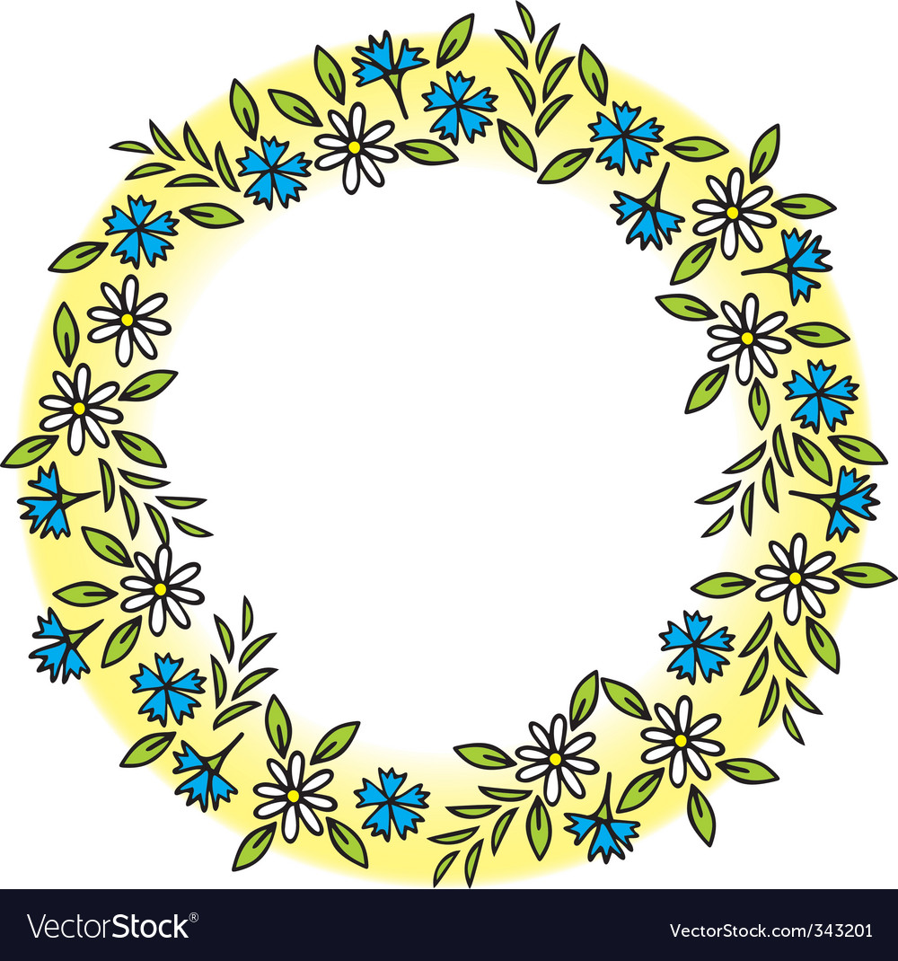 Wreath of wild flowers vector   Price: 1 Credit (USD $1)