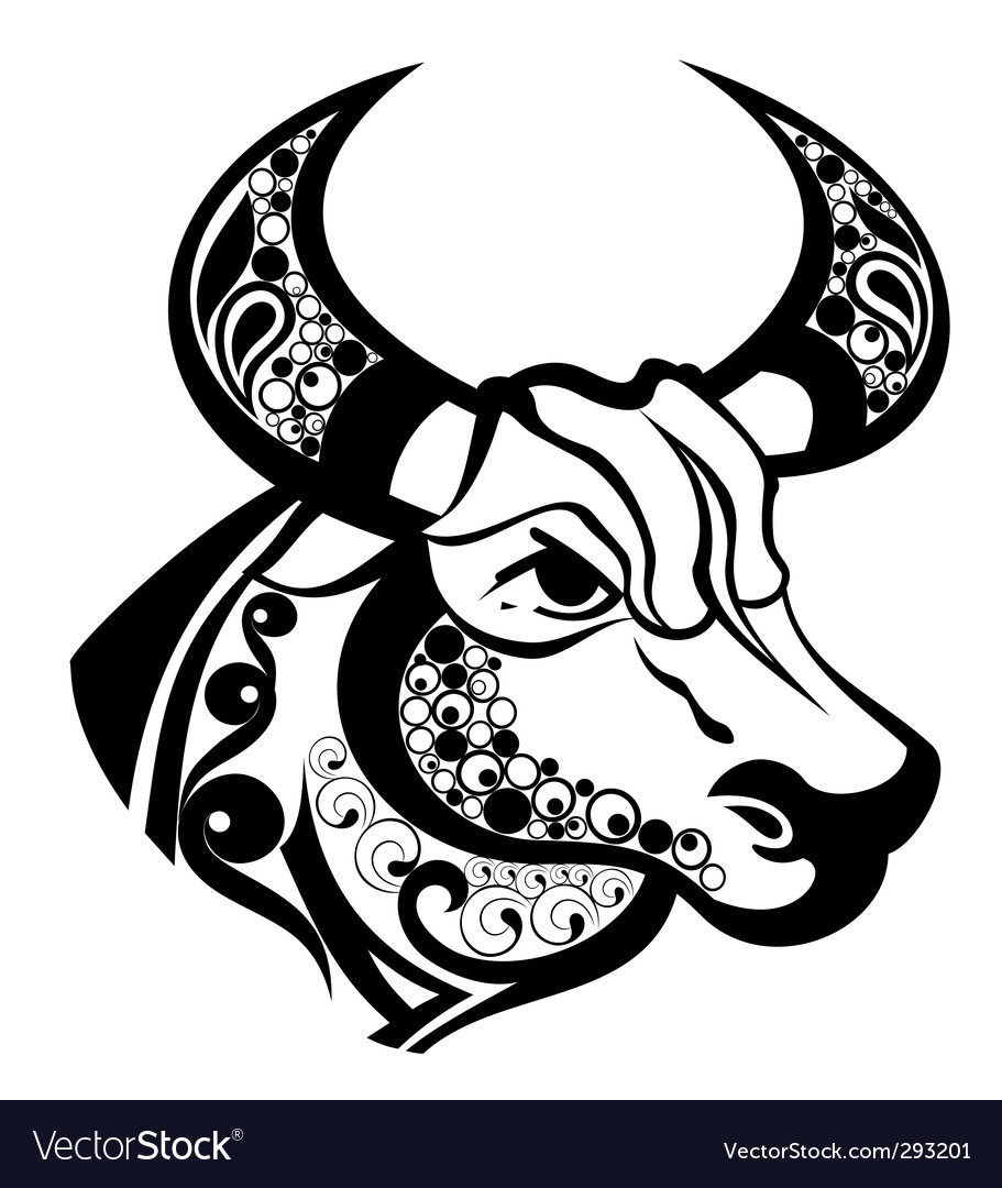 Zodiac signs taurus vector | Price: 1 Credit (USD $1)