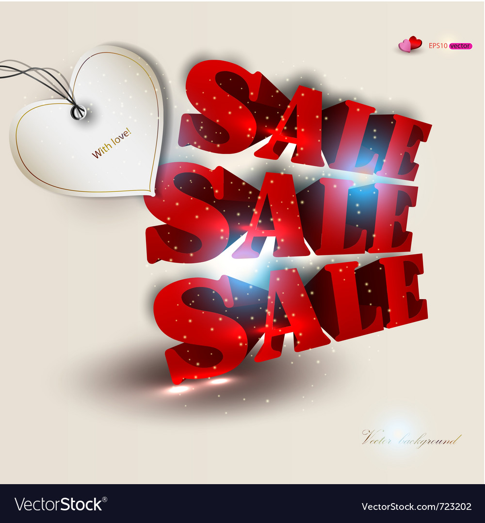 3d red text sale background vector   Price: 1 Credit (USD $1)