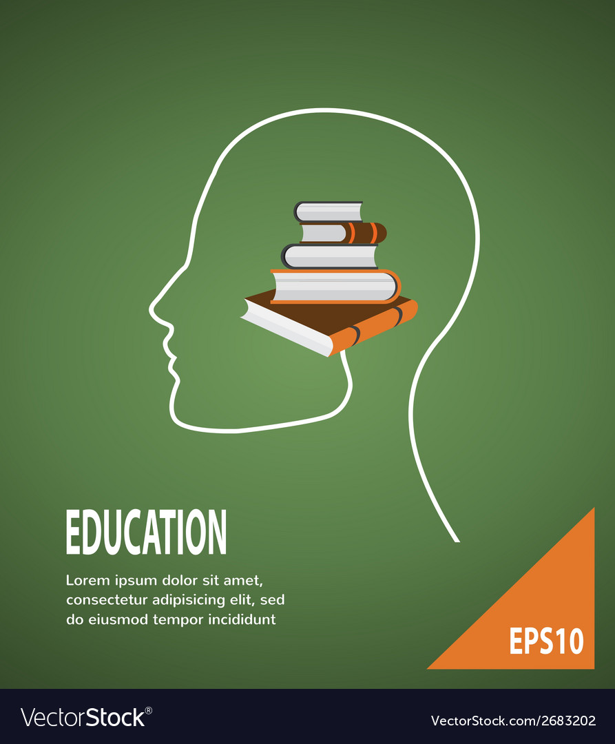 The concept of modern education infographic vector | Price: 1 Credit (USD $1)