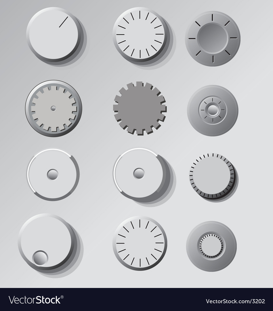 Dials and knobs vector | Price: 1 Credit (USD $1)