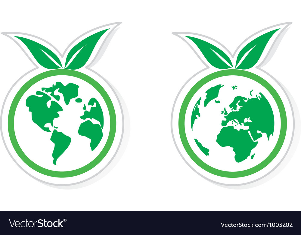 Eco recycling icon vector | Price: 1 Credit (USD $1)