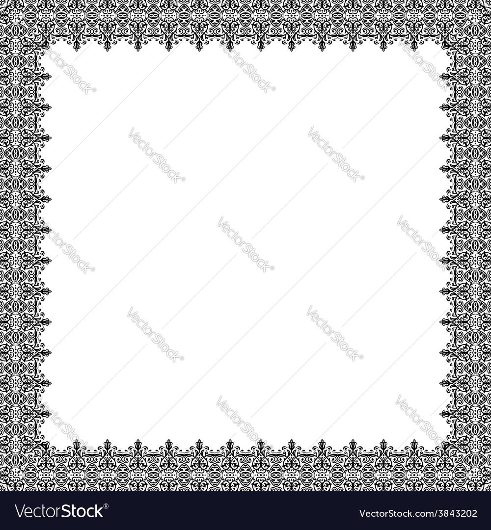 Floral fine frame vector   Price: 1 Credit (USD $1)