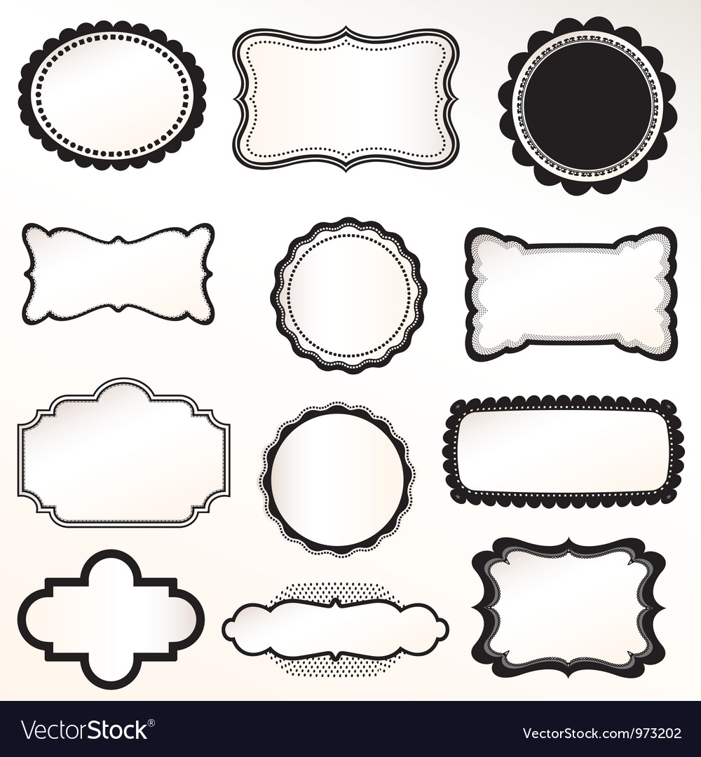 Frame labels set vintage vector | Price: 1 Credit (USD $1)