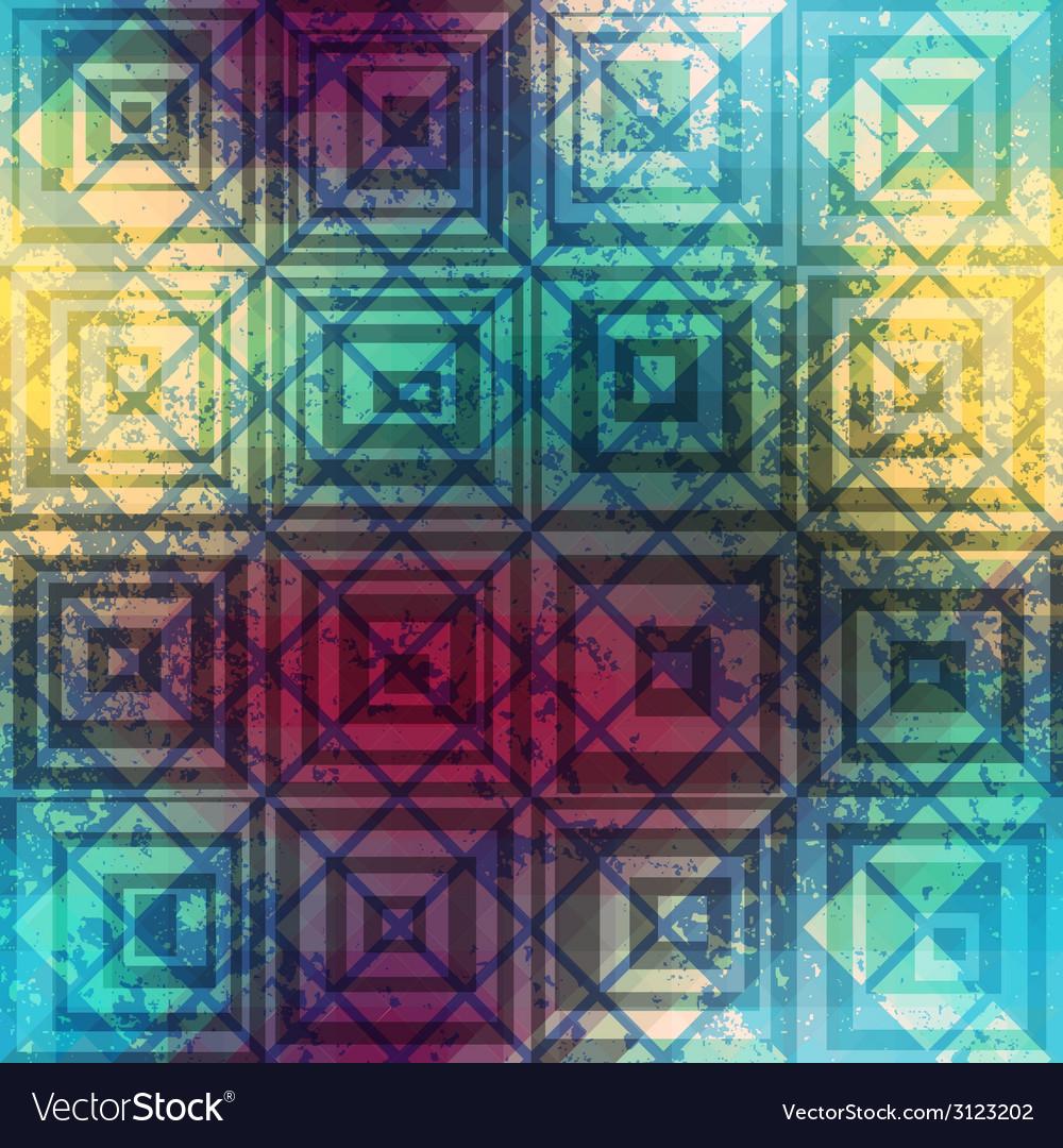 Grunge geometric retro pattern vector   Price: 1 Credit (USD $1)