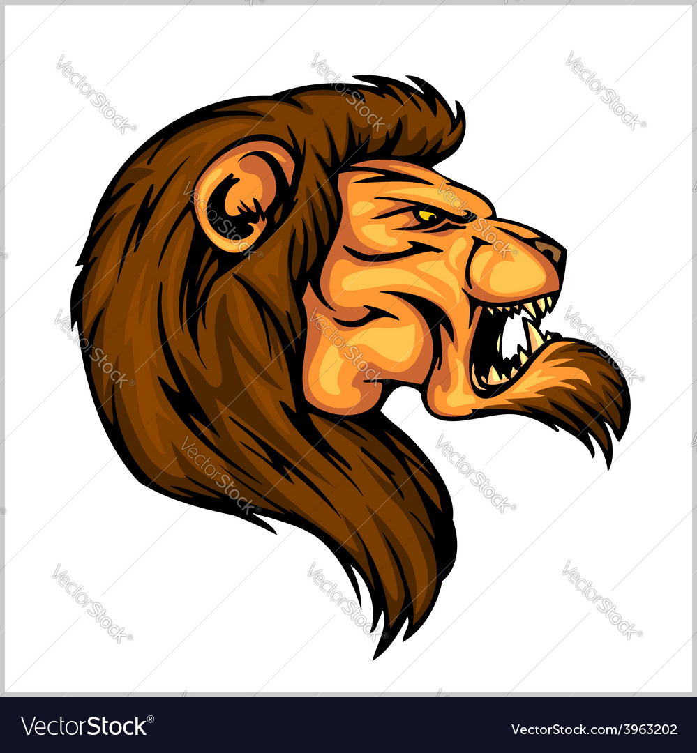 Lion head mascot - for sport vector | Price: 1 Credit (USD $1)