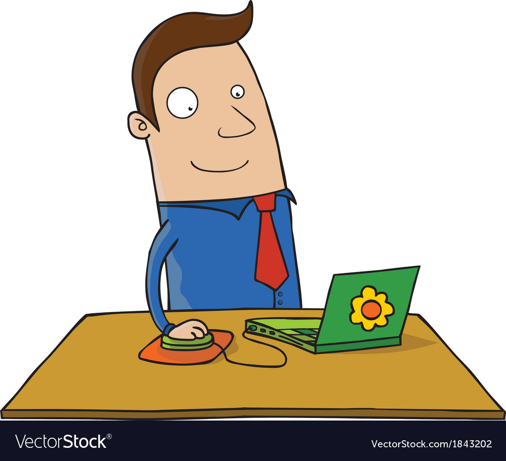 Man with laptop vector   Price: 1 Credit (USD $1)
