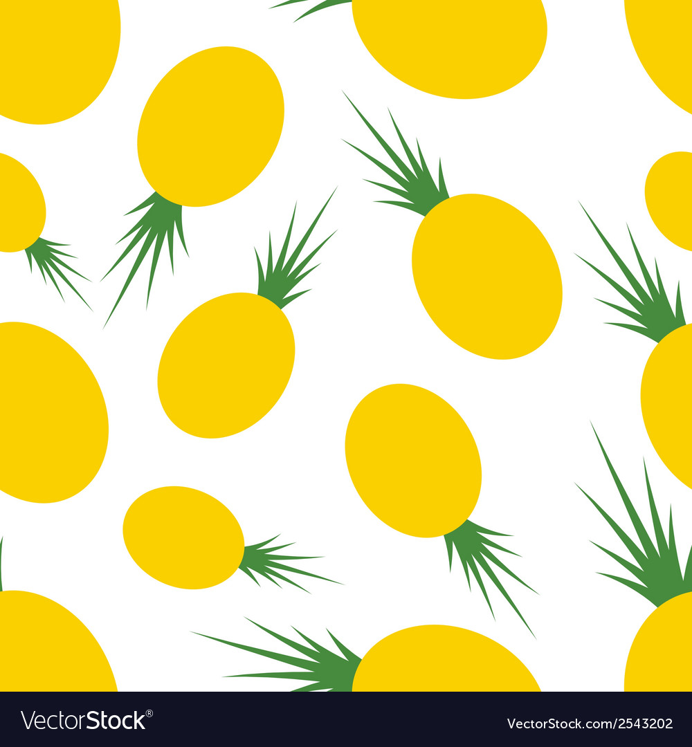 Pattern silhouette pineapples vector | Price: 1 Credit (USD $1)