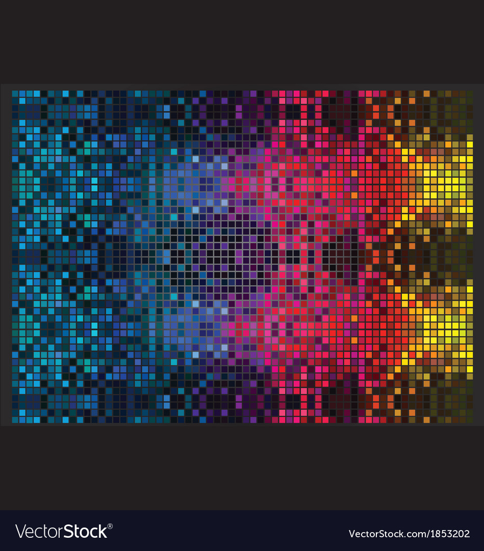 Psychedelic mosaic vector | Price: 1 Credit (USD $1)