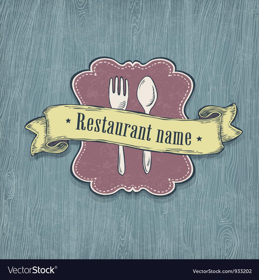 Restaurant design template vector | Price: 1 Credit (USD $1)