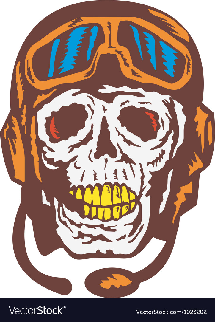 Skull face pilot airman vector | Price: 1 Credit (USD $1)