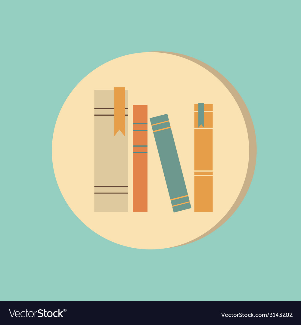 Spines of books icon symbol of a science and vector | Price: 1 Credit (USD $1)