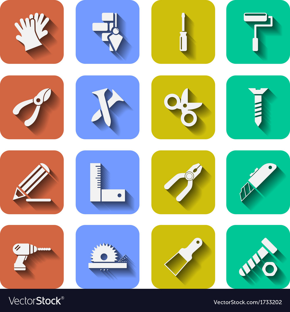 Tools icons with shadows vol 2 vector | Price: 1 Credit (USD $1)