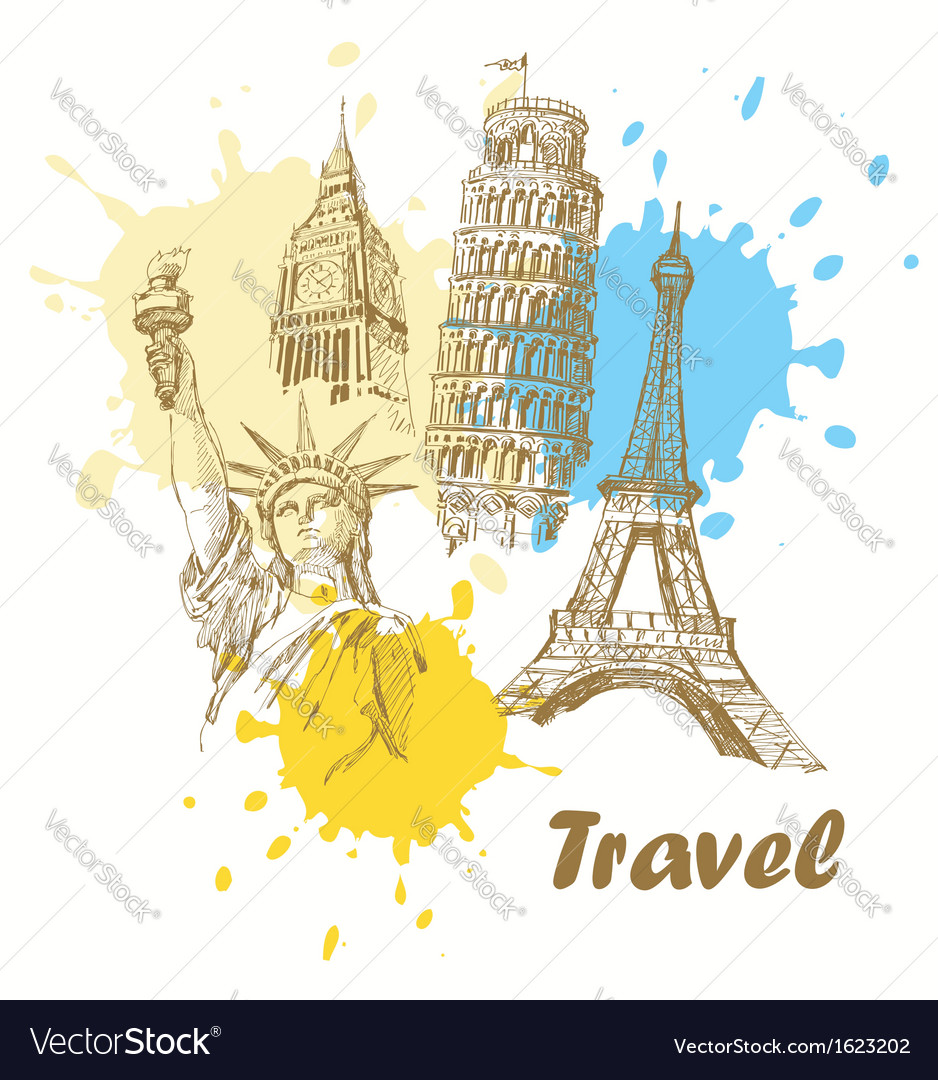 Travel background vector | Price: 1 Credit (USD $1)