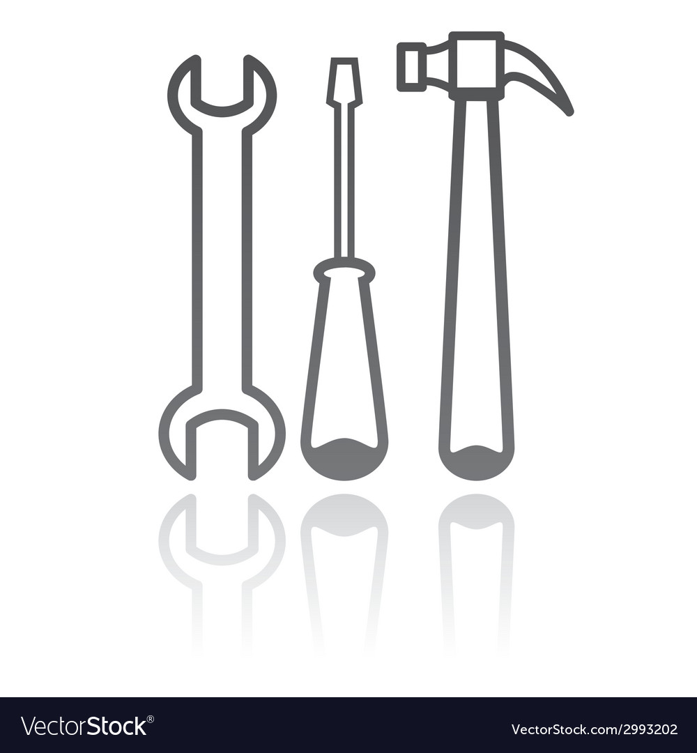 Work tools repair equipmet vector | Price: 1 Credit (USD $1)