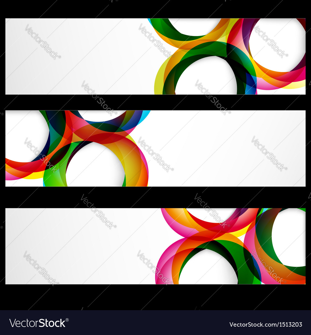 Abstract banner forms vector | Price: 1 Credit (USD $1)