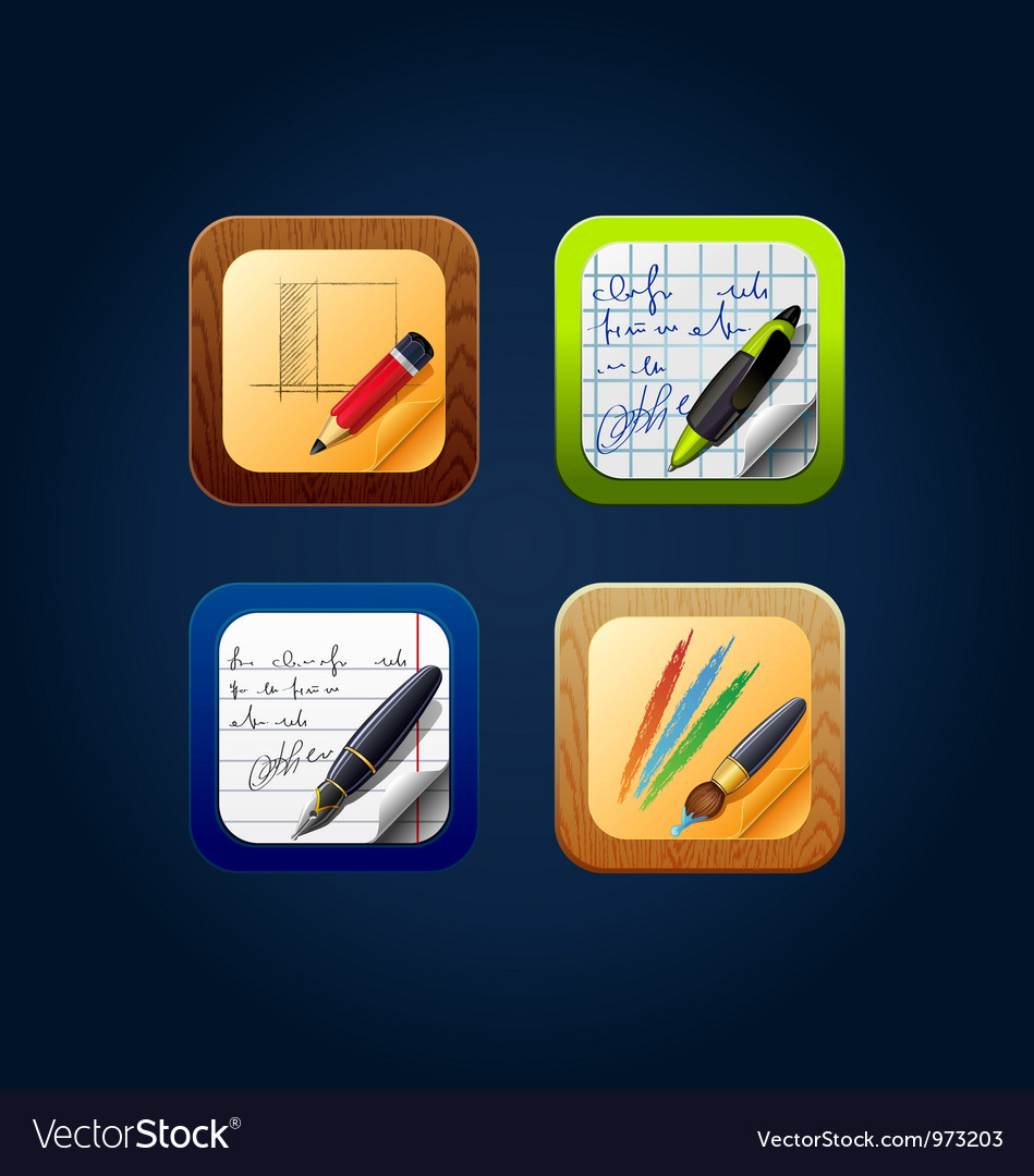 App icon drawing tools vector | Price: 3 Credit (USD $3)