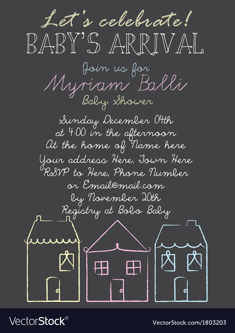Babyshower houses vector