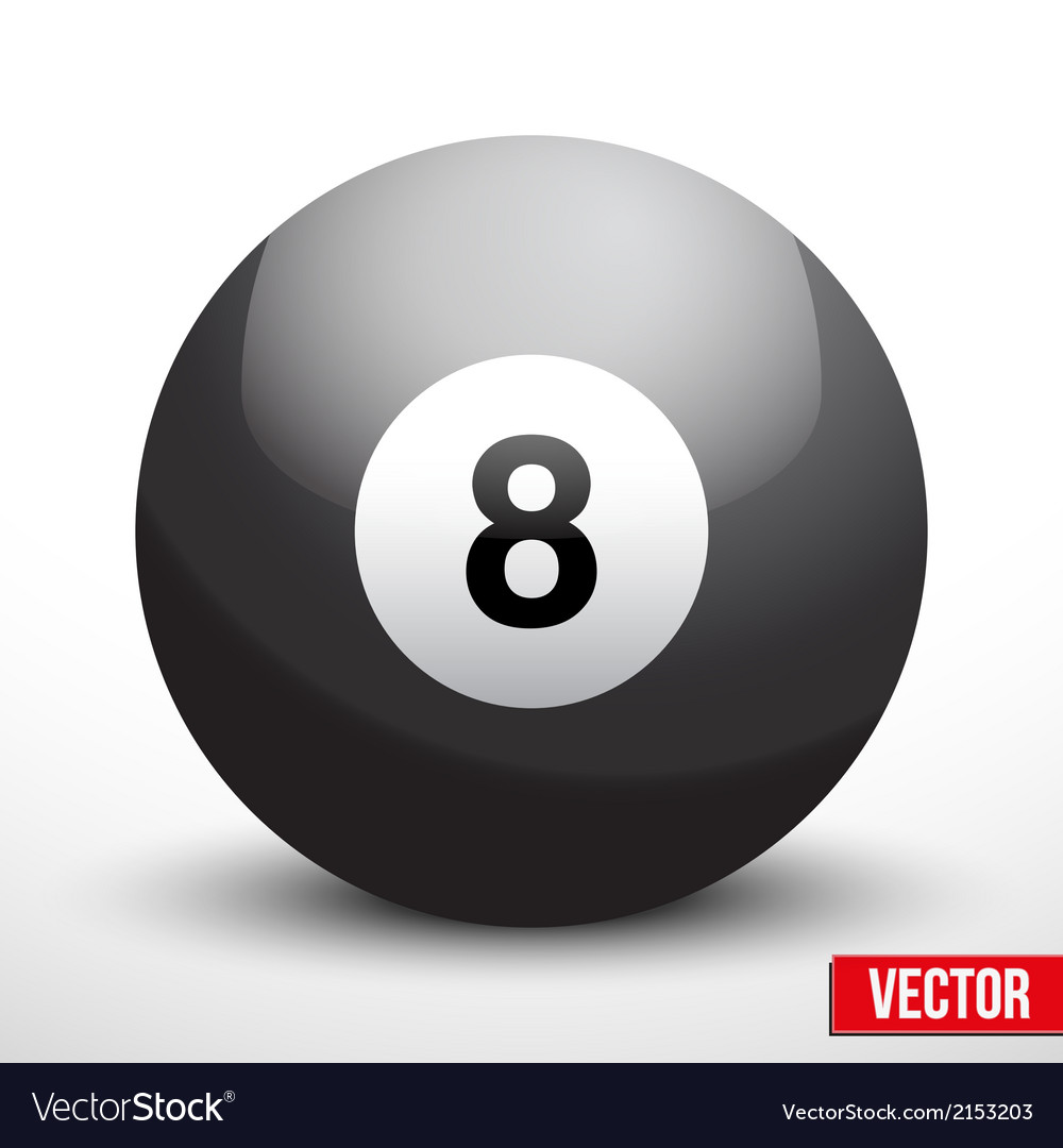 Black ball sphere for billiards vector | Price: 1 Credit (USD $1)