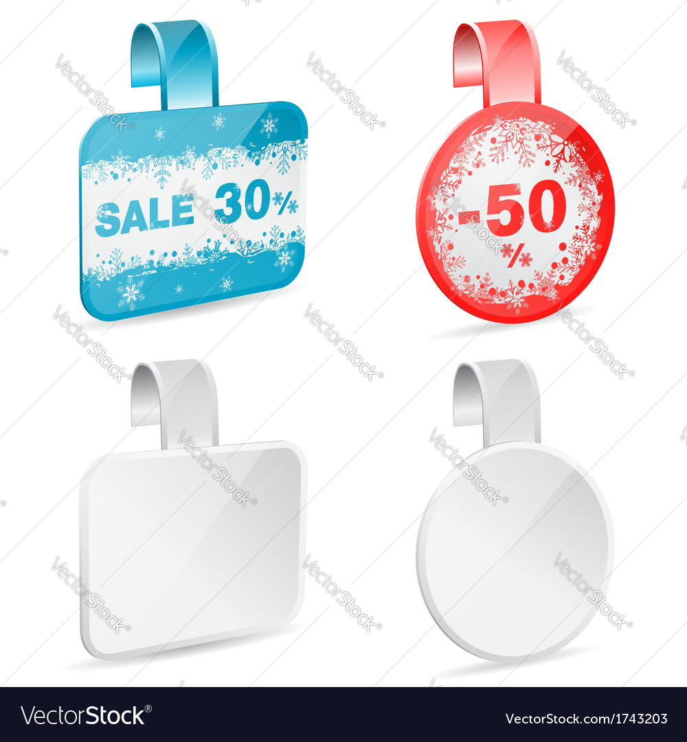 Christmas sale labels vector | Price: 1 Credit (USD $1)