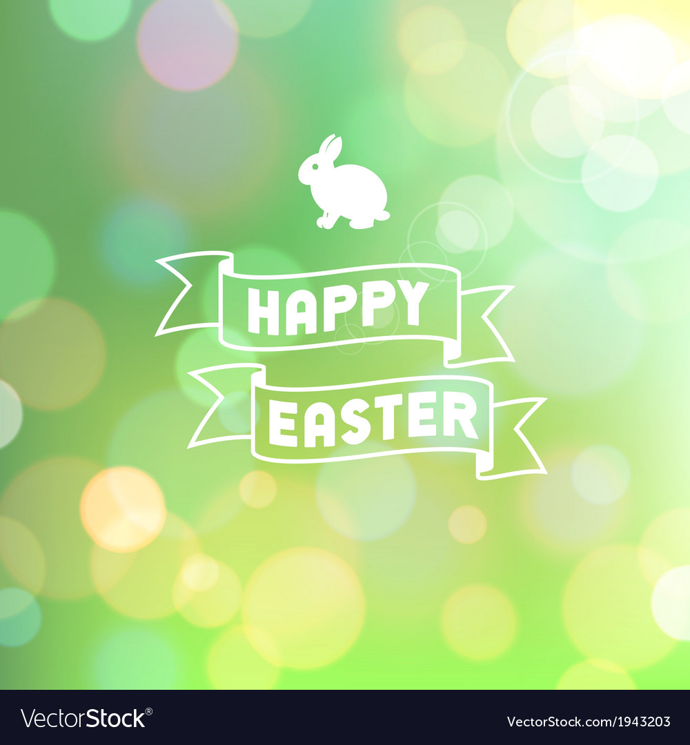 Easter background bokeh green vector | Price: 1 Credit (USD $1)