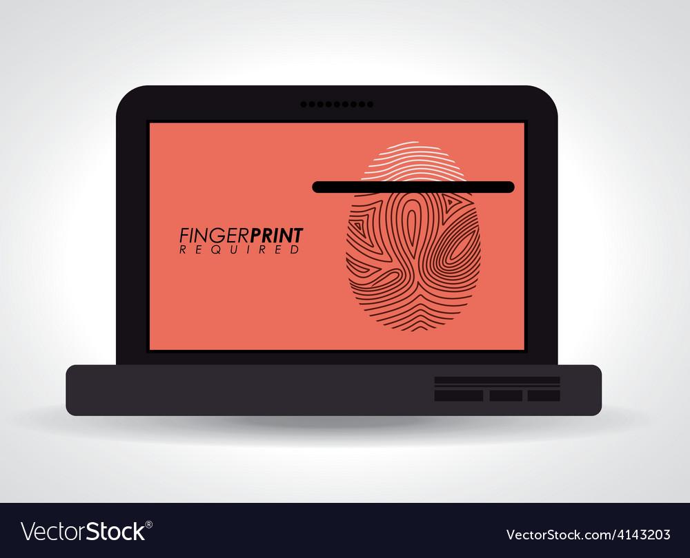 Fingerprint design vector | Price: 1 Credit (USD $1)