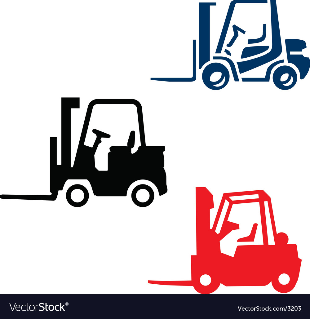 Fork lift trucks vector | Price: 1 Credit (USD $1)