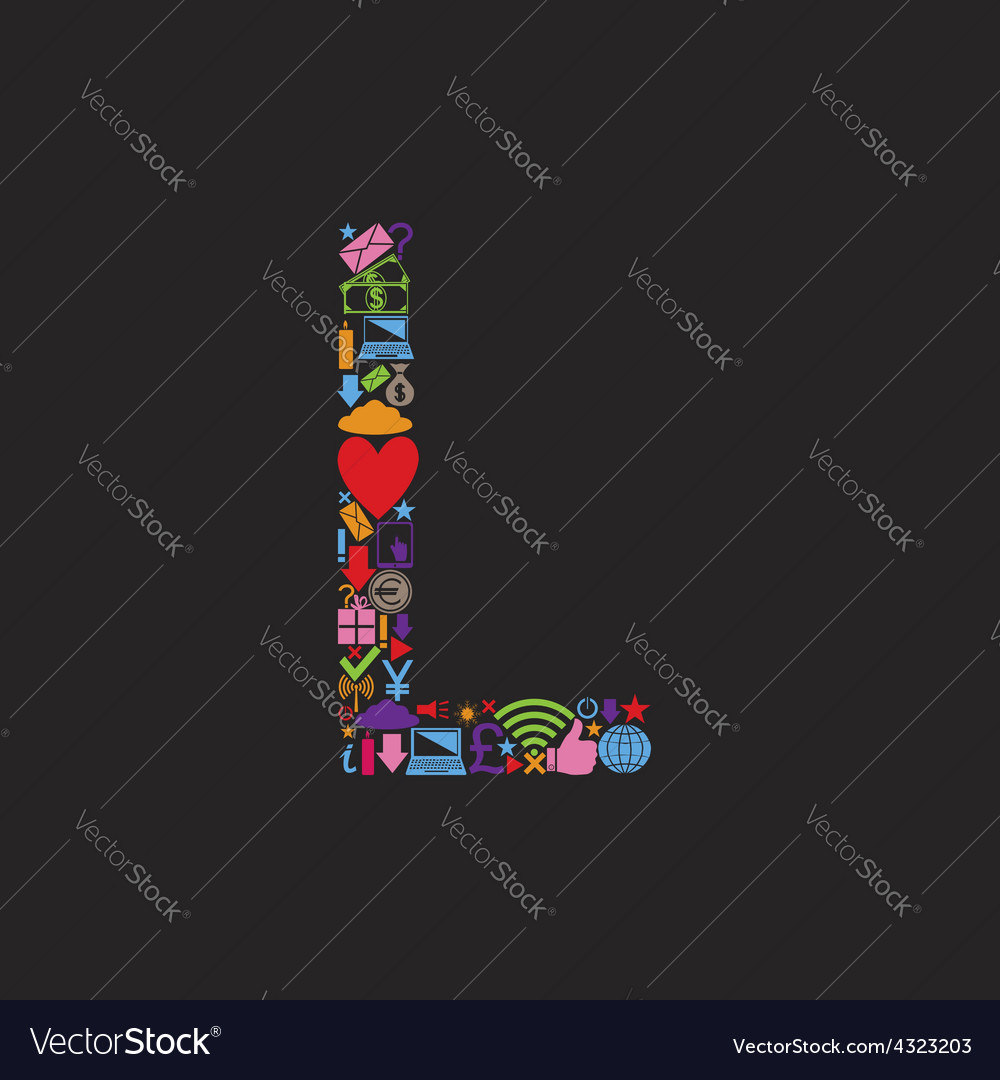 Letter l vector   Price: 1 Credit (USD $1)