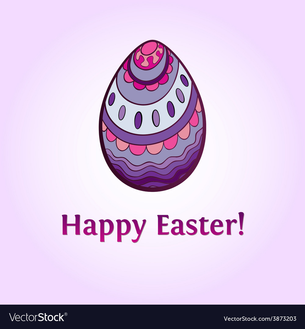 Ornamental easter egg vector | Price: 1 Credit (USD $1)