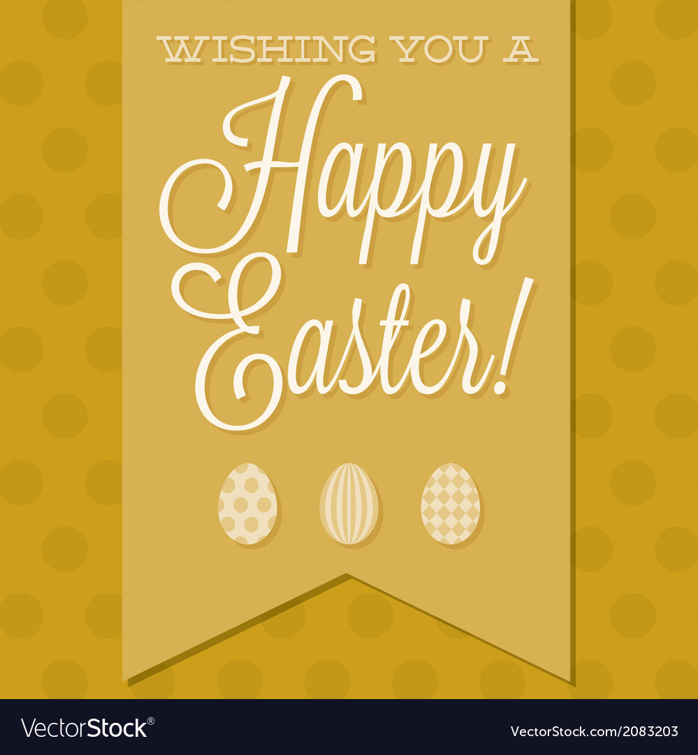 Retro style happy easter card in format vector | Price: 1 Credit (USD $1)