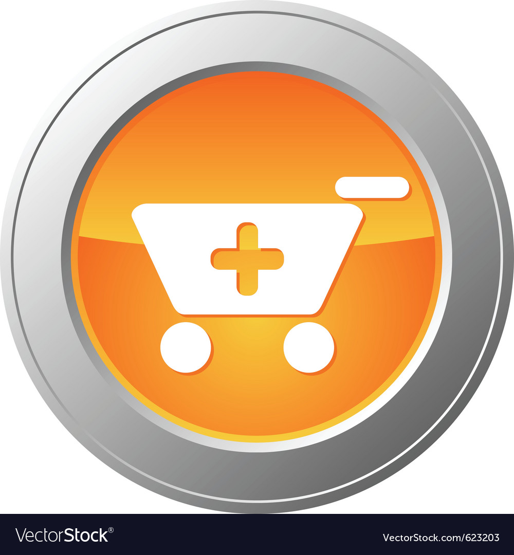 Shopping cart button vector | Price: 1 Credit (USD $1)