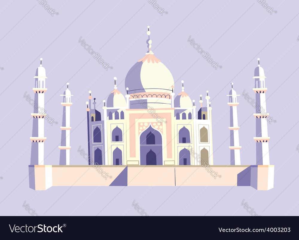 Taj mahal india vector | Price: 1 Credit (USD $1)