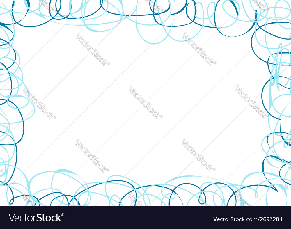 Abstract frame with blue scribbles vector | Price: 1 Credit (USD $1)