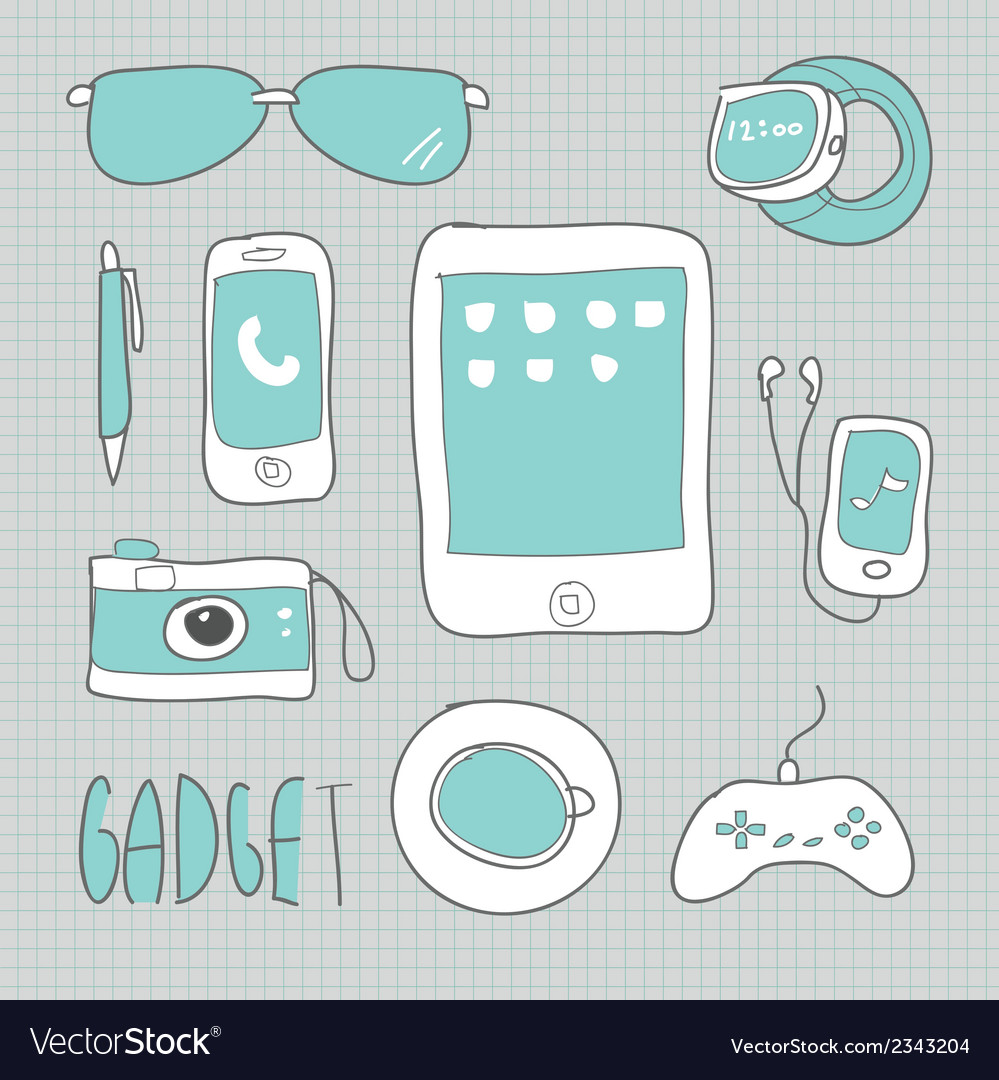 Drawing gadgets technology vector | Price: 1 Credit (USD $1)