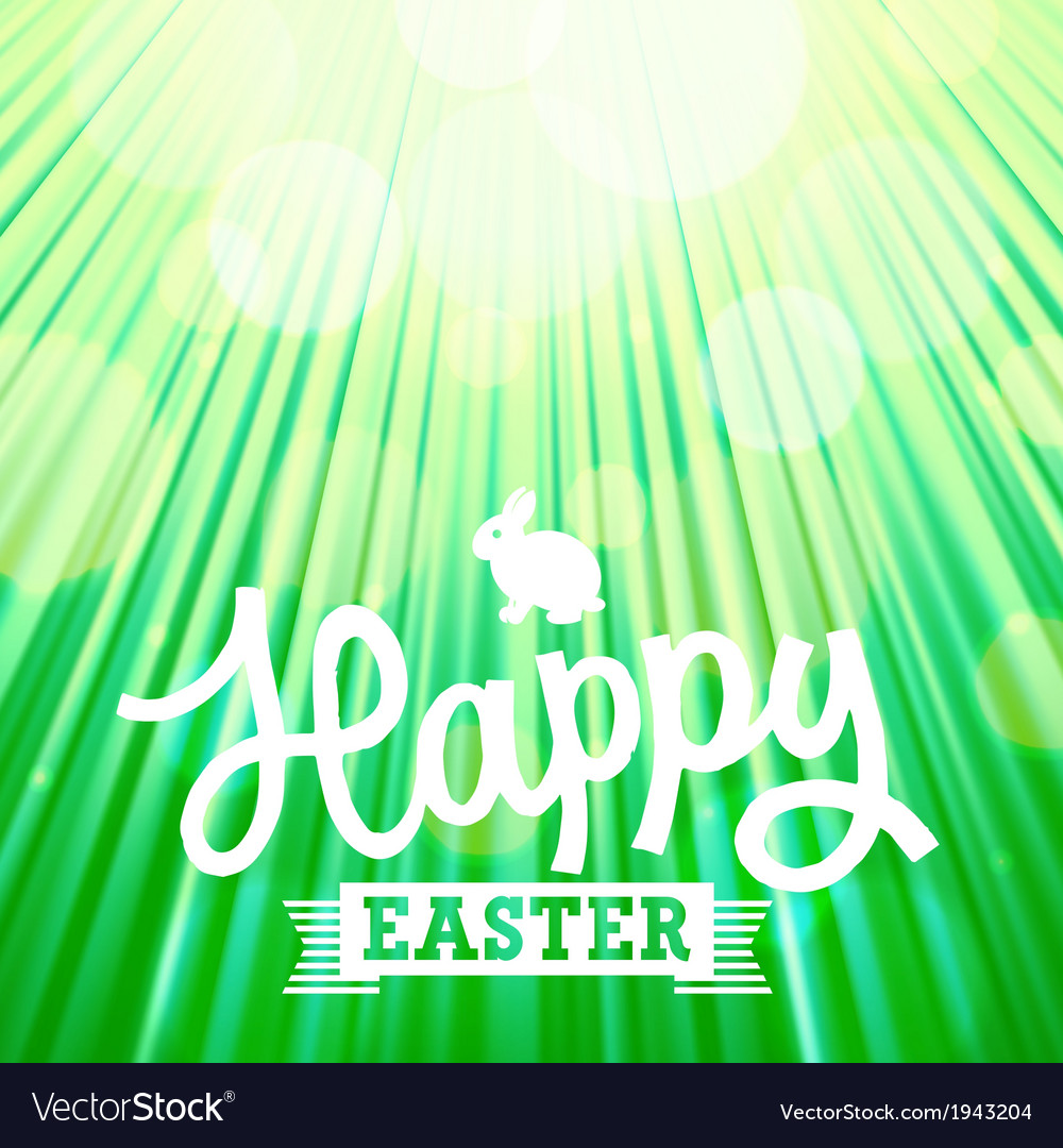 Easter background rays green vector | Price: 1 Credit (USD $1)