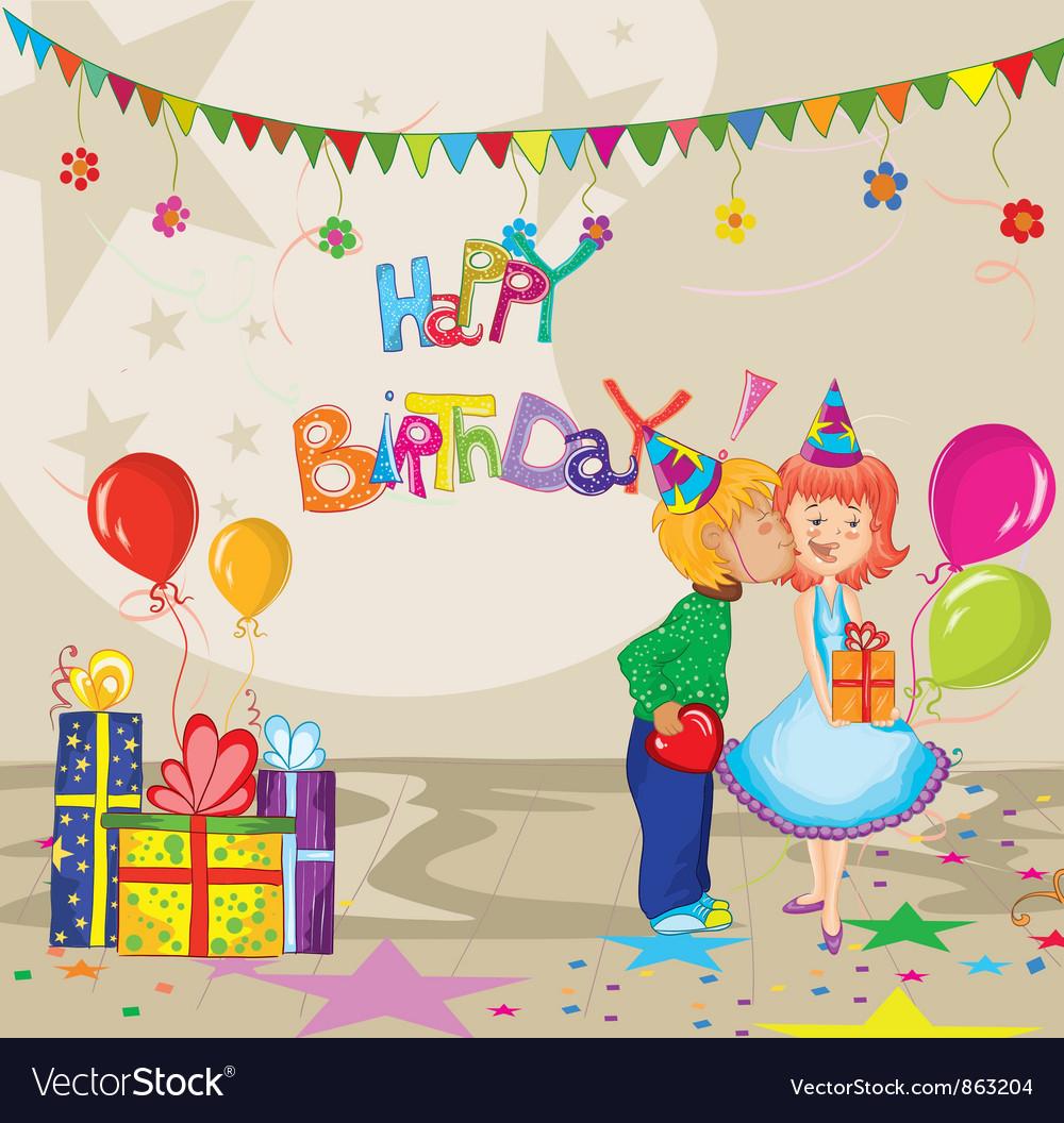 Kids birthday party vector | Price: 3 Credit (USD $3)