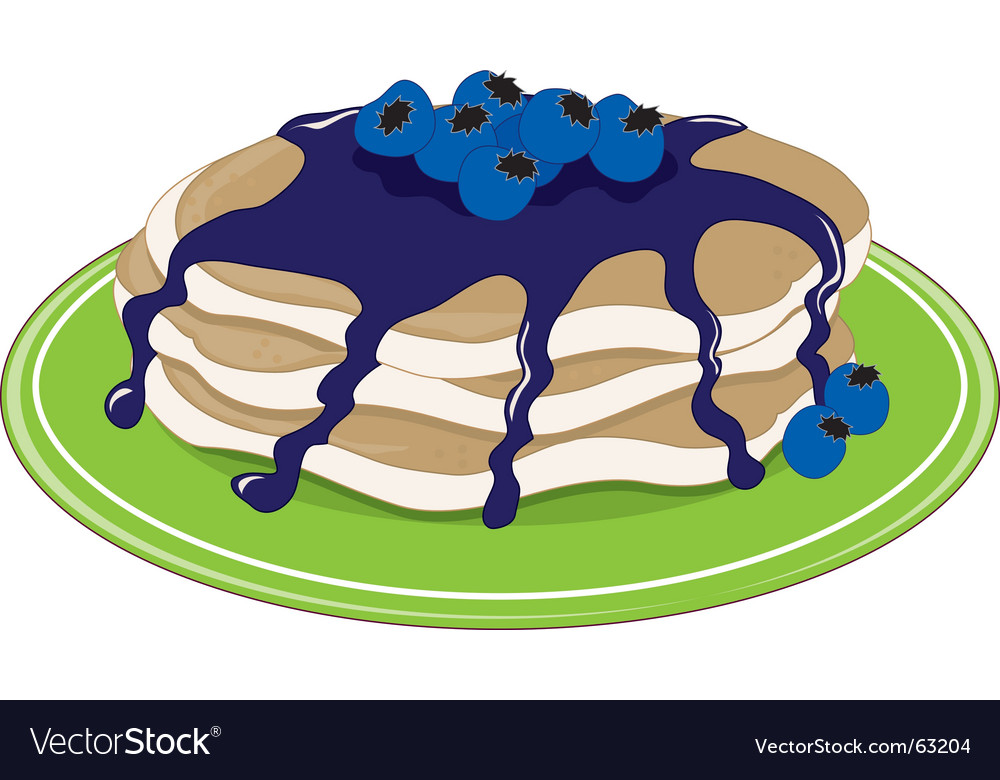Pancakes blueberry vector | Price: 1 Credit (USD $1)