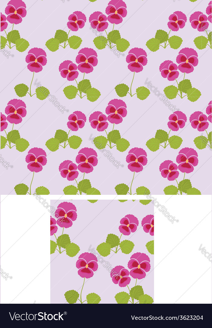Pansy background vector | Price: 1 Credit (USD $1)