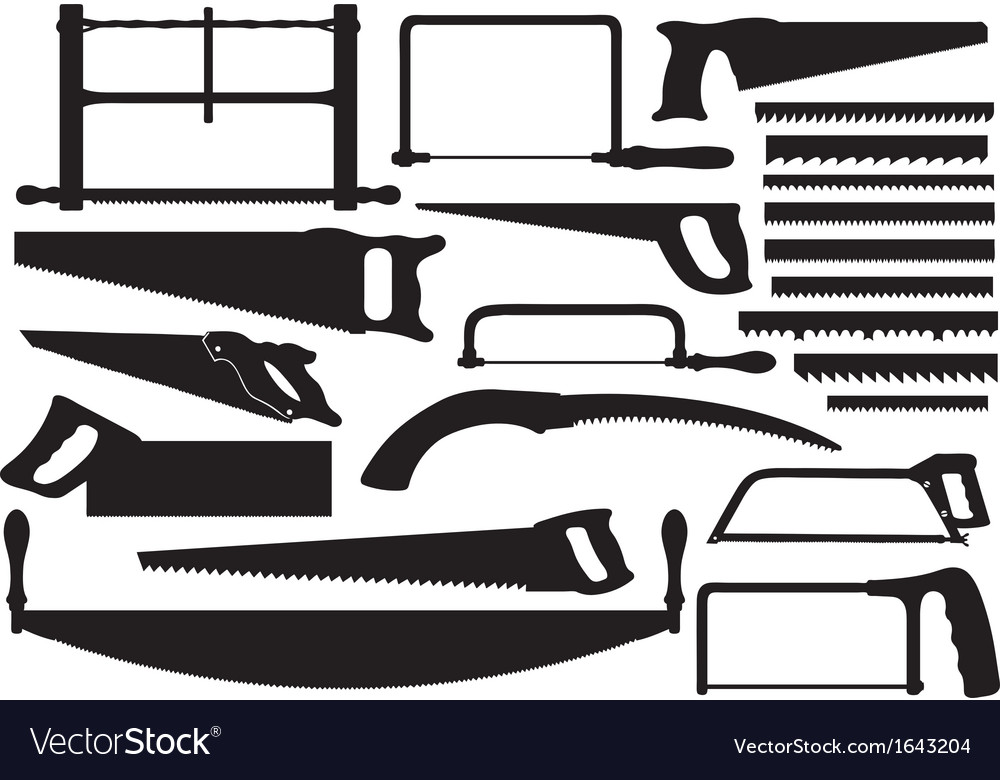 Set of different saws vector | Price: 1 Credit (USD $1)