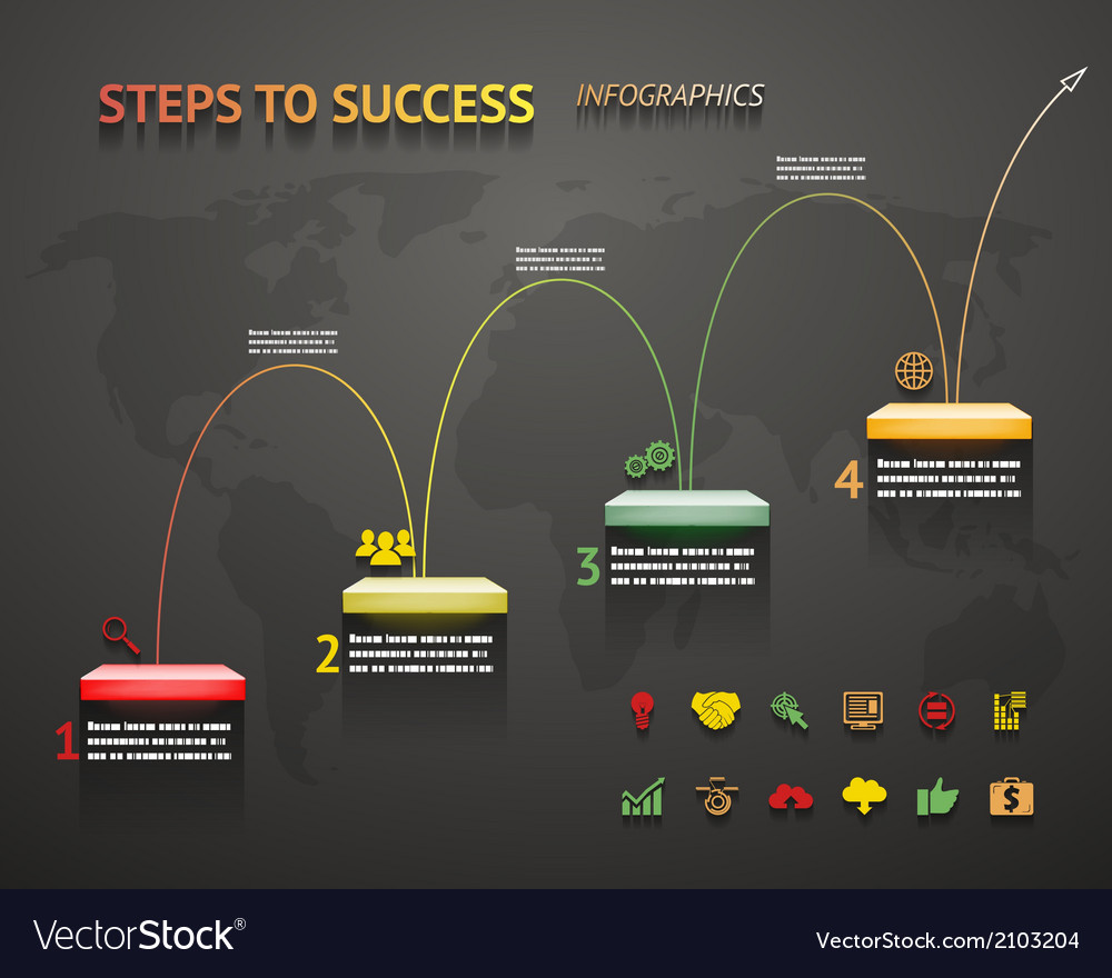 Success option steps template arrow and staircase vector | Price: 1 Credit (USD $1)