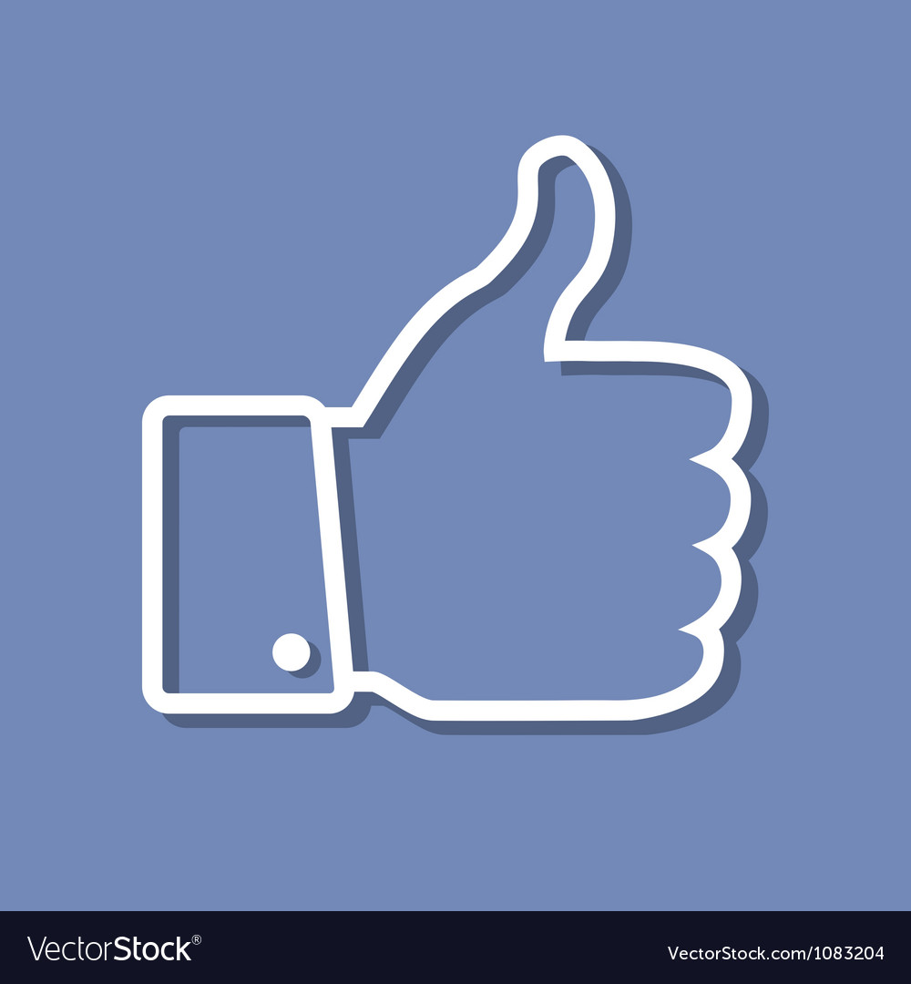 Thumb up applique vector | Price: 1 Credit (USD $1)