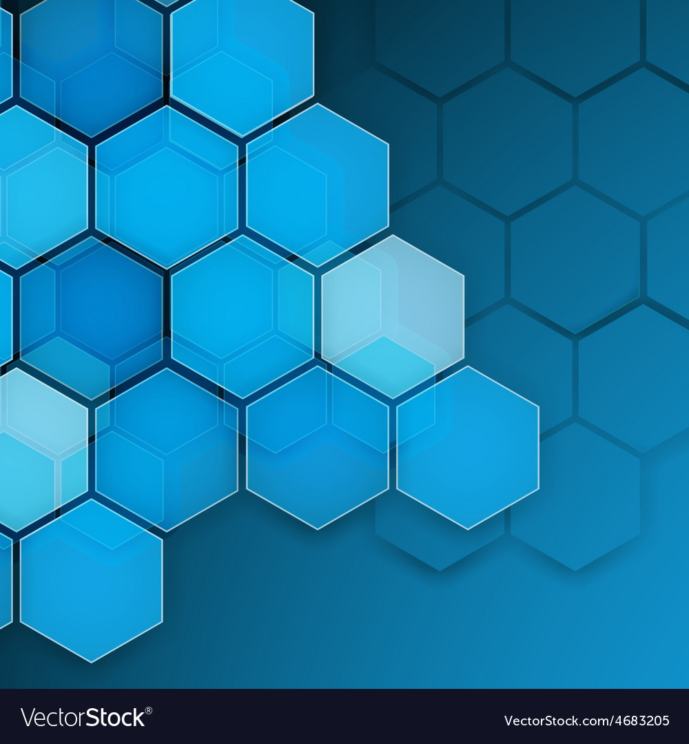 Abstract blue background hexagon vector | Price: 1 Credit (USD $1)