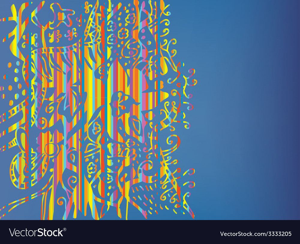 Abstract floral cover with rainbow colors vector | Price: 1 Credit (USD $1)