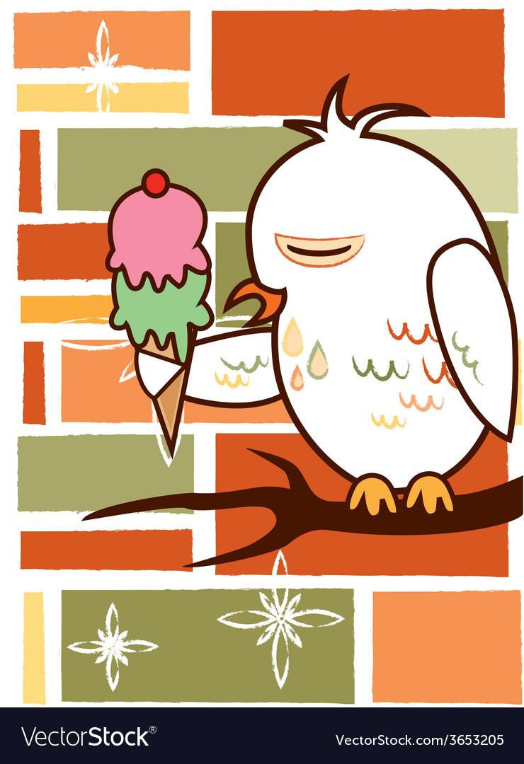 Background owl vector | Price: 1 Credit (USD $1)
