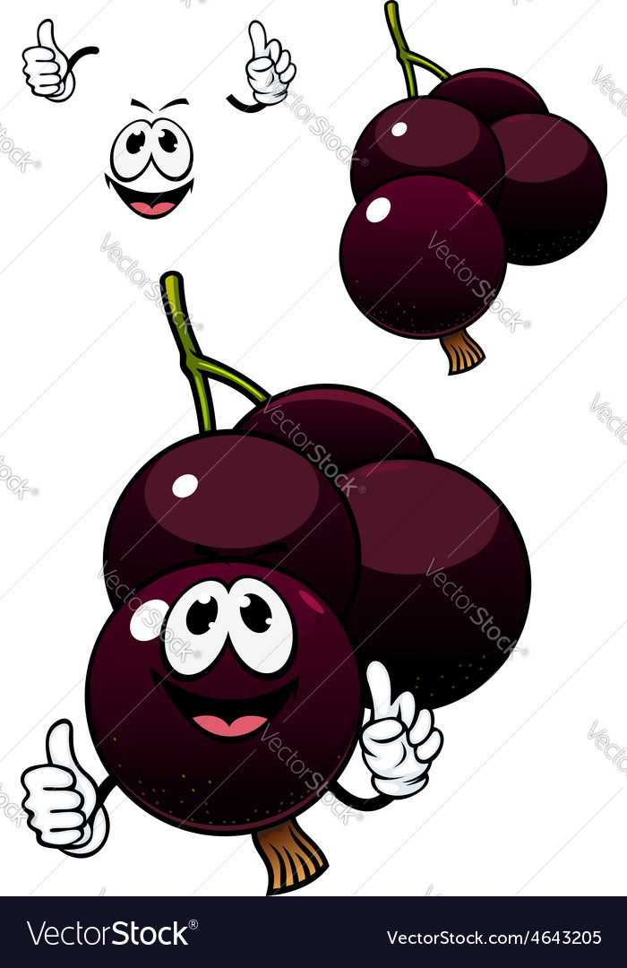 Cute cartoon currant berry fruit vector | Price: 1 Credit (USD $1)